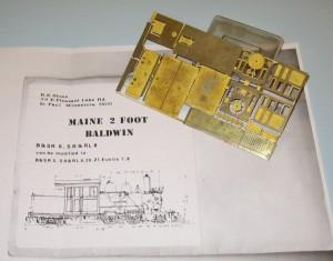 Maine 2 foot Baldwin Forney, SR&RL #8,9,20,21